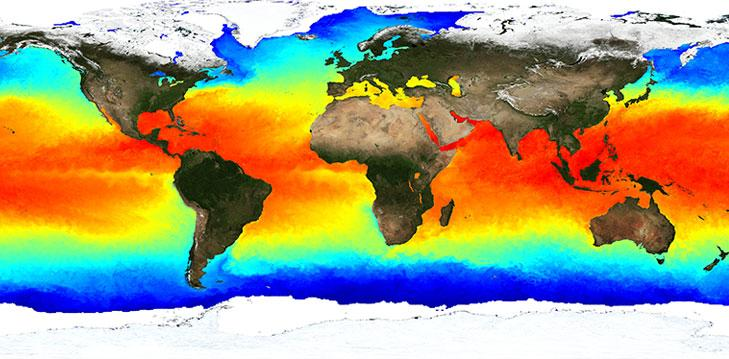 How do ocean temperatures affect the climate?